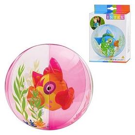 """Мяч надувной """"Рыбка"""" Intex 58031 (61 см) розовый"""