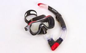 Фото 1 к товару Набор для плавания Dorfin (ZLT) ZP-280A65-SIL-R (маска+трубка) красный