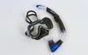 Набор для плавания Dorfin (ZLT) ZP-280A65-SIL-Y (маска+трубка) черно-синий - фото 1