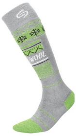 Носки мужские InMove Ski Deodorant Thermowool light grey/green
