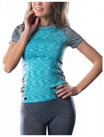 Футболка для фитнеса женская Avecs 30183-AV голубая