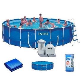 Бассейн каркасный Intex 28252/28752 (549х122 см) с фильтрующим насосом и аксессуарами