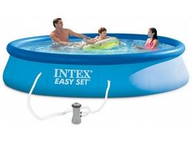 Бассейн надувной Intex 28142 (396х84 см) с фильтрующим насосом