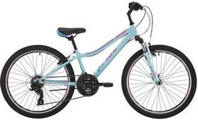 """Велосипед детский горный Pride Lanny 21 24"""" 2017 голубой/бирюзовый/малиновый"""