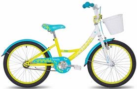 """Велосипед детский Pride Sandy 20"""" 2017 белый/лайм/бирюзовый"""