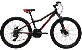 """Велосипед детский горный Pride Pilot 21 24"""" 2017 черный/красный/оранжевый"""