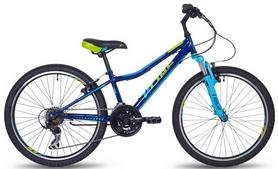 """Велосипед детский горный Pride Brave 21 24"""" 2017 синий/голубой/лайм"""