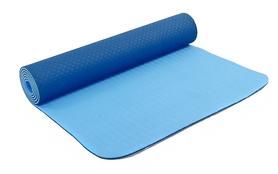 Коврик для йоги (йога-мат) FI-3046 ТРЕ+TC 6 мм голубой