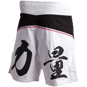 Фото 2 к товару  Шорты для ММА Adidas ADICSS53 черно-белые