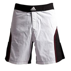 Фото 1 к товару  Шорты для ММА Adidas ADICSS53 бело-черные