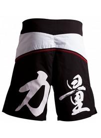 Фото 2 к товару  Шорты для ММА Adidas ADICSS53 бело-черные