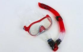 Фото 4 к товару Набор для плавания подростковый Dorfin (ZLT) (маска+трубка) красный