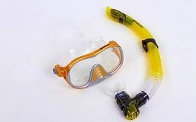 Фото 2 к товару Набор для плавания подростковый Dorfin (ZLT) (маска+трубка) желтый