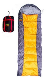 Мешок спальный (спальник) GreenCamp GRC1009-OR правый серый/оранжевый