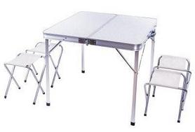 Стол раскладной + 4 стула Green Camp С8833