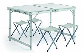 Стол раскладной + 4 стула Green Camp HY-8101