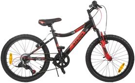 """Велосипед подростковый горный Stern Attack 20"""" черный/красный, рама - 15"""""""