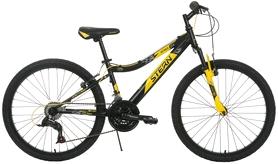 """Велосипед подростковый горный Stern Attack 24"""" черный/желтый, рама - 15"""""""