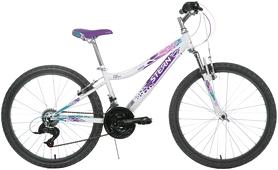"""Велосипед подростковый горный Stern Leelloo 24"""" белый/фиолетовый, рама - 15"""""""
