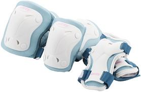 Защита для катания детская (комплект) Roces S17RP2WQ белая/голубая