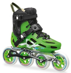Коньки роликовые Rollerblade Maxxum 100 2015 black/acid green