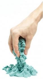 Песок кинетический Eco Toys Supergum синий 500 г