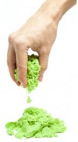 Песок кинетический Eco Toys Supergum зеленый 500 г