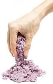 Песок кинетический Eco Toys Supergum фиолетовый 1000 г