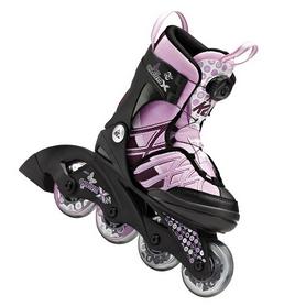 Коньки роликовые раздвижные женские K2 Charm X BOA 2015 розовые