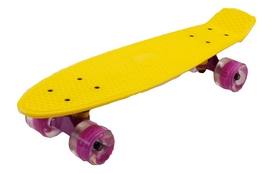 Пенни борд Penny Wheels Fish SK-405-17 желтый/фиолетовый