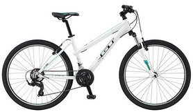 "Велосипед горный женский GT Laguna 26"" gloss white 2016 белый, рама - S"""