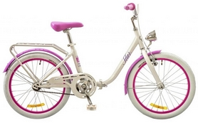 "Велосипед детский Dorozhnik Star 14G 20"" 2017 бело-розовый, рама - 13"""