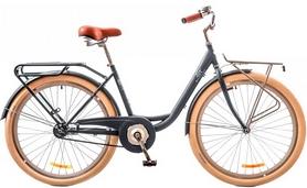 """Велосипед городской Dorozhnik Lux 14G 26"""" 2017 серый, рама - 17"""""""