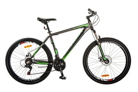 "Велосипед горный Optimabikes Gravity AM 14G DD Al 27,5"" 2017 серо-зеленый, рама - 19"""