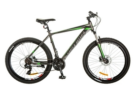 "Велосипед горный Optimabikes F-1 AM 14G HDD Al 26"" 2017 серо-зеленый, рама - 17"""