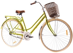 "Велосипед городской Dorozhnik Comfort Female 14G Planеtary hub 28"" 2017 желтый, рама - 19"""