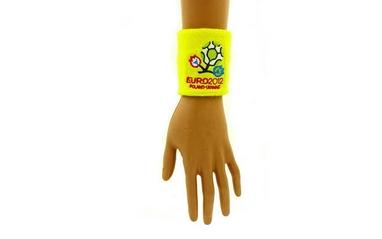 Распродажа*! Повязка на кисть (напульсник) EURO-2012 желтый