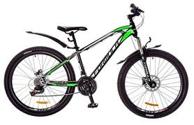 """Велосипед подростковый горный Formula Blaze PRO 26"""" 2017 черно-салатовый, рама - 15"""""""