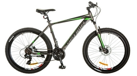 """Велосипед горный Optimabikes Motion AM 29"""" 14G DD Al 2017 черно-зеленый, рама - 21"""""""