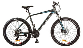 "Велосипед горный Optimabikes F-1 AM 26"" 14G HDD Al 2017 серо-синий, рама - 19"""