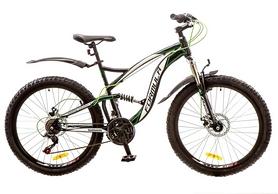 """Велосипед горный Formula X-Rover AM2 14G DD 26"""" 2017 черно-зеленый, рама - 19"""""""