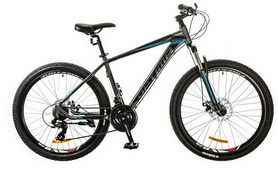 "Велосипед горный Optimabikes F-1 AM 26"" 14G DD Al 2017 серо-синий, рама - 17"""