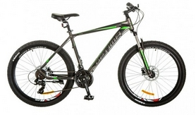 "Велосипед горный Optimabikes F-1 AM 26"" 14G DD Al 2017 серо-зеленый, рама - 19"""
