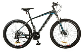 "Велосипед горный Optimabikes F-1 AM 26"" 14G DD Al 2017 серо-синий, рама - 19"""