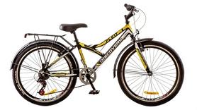 """Велосипед городской подростковый Discovery Flint 14G 24"""" 2017 желтый, рама - 14"""""""