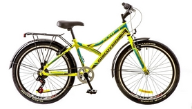 """Велосипед городской подростковый Discovery Flint 14G 24"""" 2017 салатовый, рама - 14"""""""