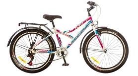 """Велосипед городской подростковый Discovery Flint 14G 24"""" 2017 белый/синий/розовый, рама - 14"""""""