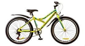 """Велосипед горный подростковый Discovery Flint 14G 24"""" 2017 зеленый/серый/голубой, рама - 14"""""""