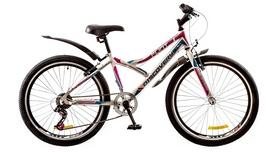 """Велосипед горный подростковый Discovery Flint 14G 24"""" 2017 белый/синий/розовый, рама - 14"""""""