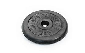 Фото 5 к товару Гантели наборные обрезиненные TA-1436-50R 2 шт по 25 кг